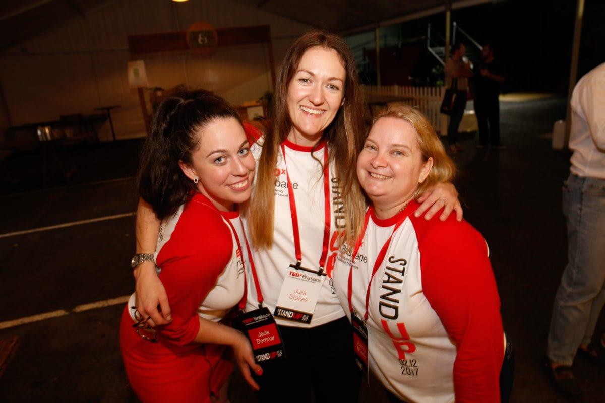 TEDx Brisbane Advocate - Julia Stokes With Jade Demnar & Juanita Wheeler