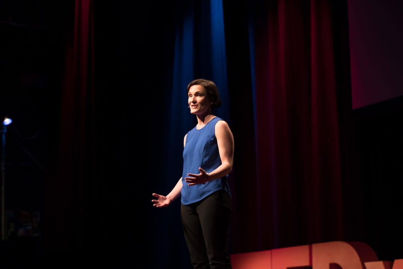 Tessa Boyd-Caine Delivering Her TEDx Talk At TEDx Brisbane