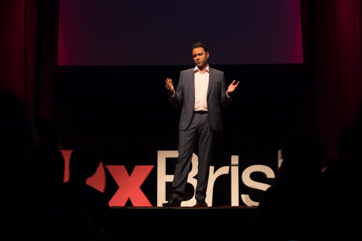 Dr Rolf Gomes Delivering His TEDx Talk On The Heart Of Australia