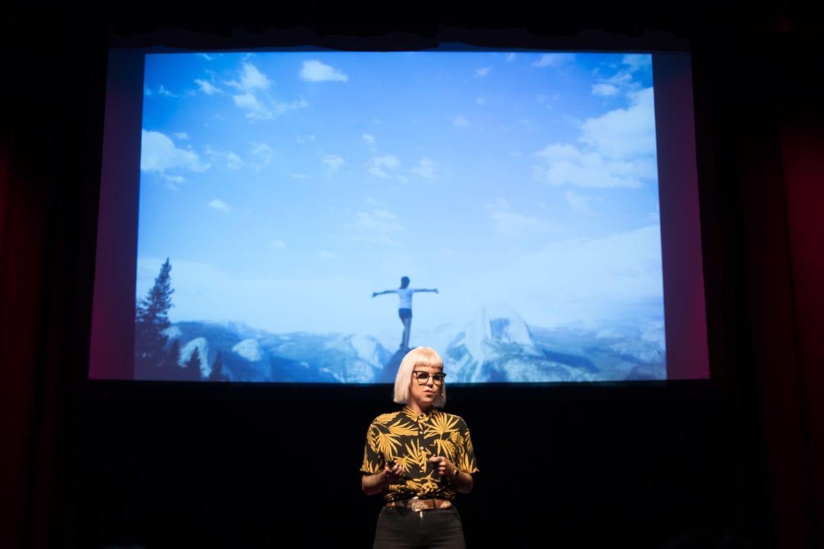 Kristina Wild Giving Her TEDx Talk
