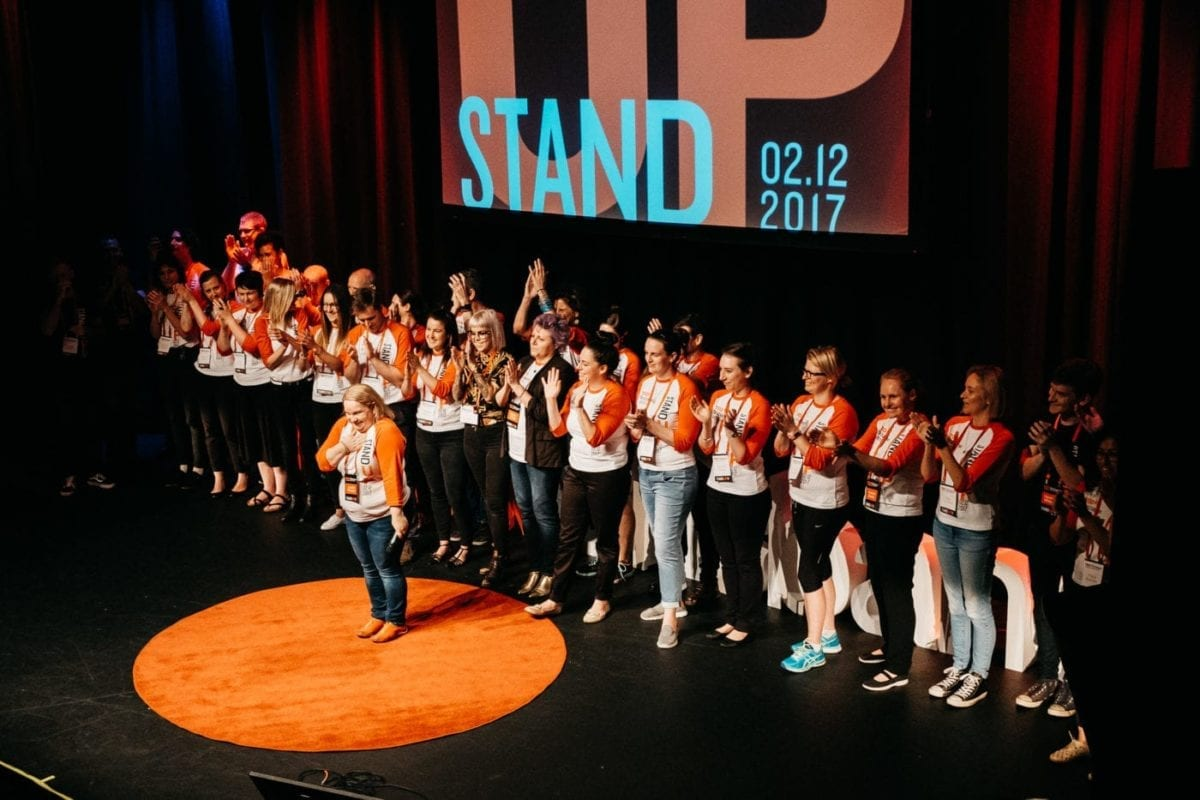 TEDx Brisbane Team On Stage For Their Love Of TED Talks