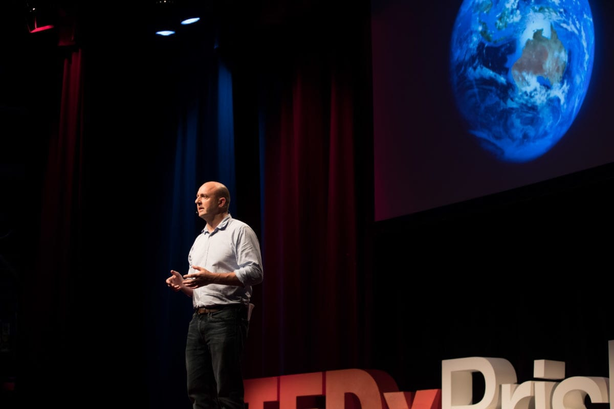 Richard Denniss Delivering His TEDx Talk