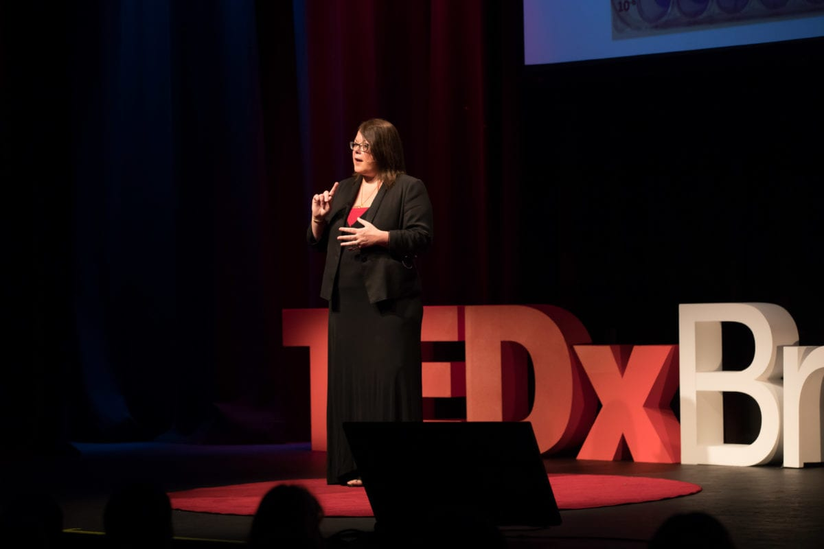 Dr Trudi Collet Delivering Her TEDx Talk About How She Cured The Zika Virus