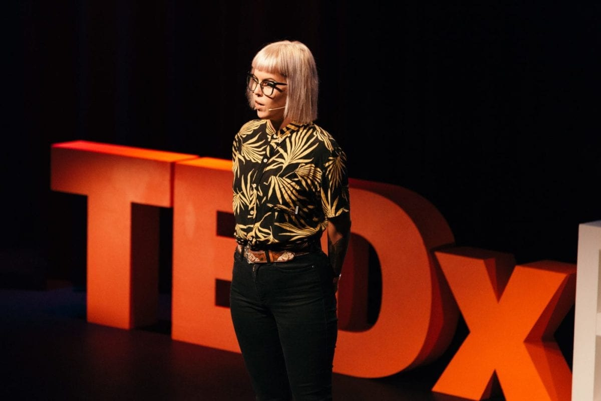 Kristina Wild Giving Her TEDx Talk
