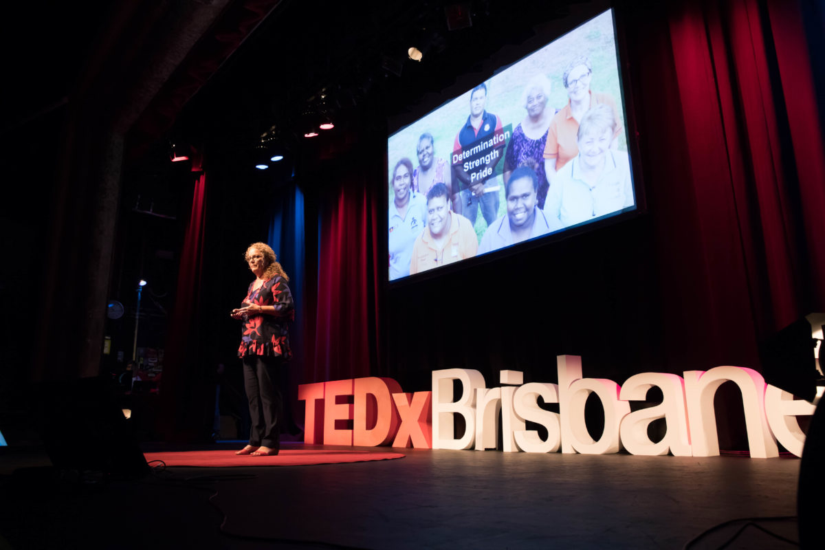 Denise Hagan Delivering Her TEDx Talk At TEDx Brisbane 2017