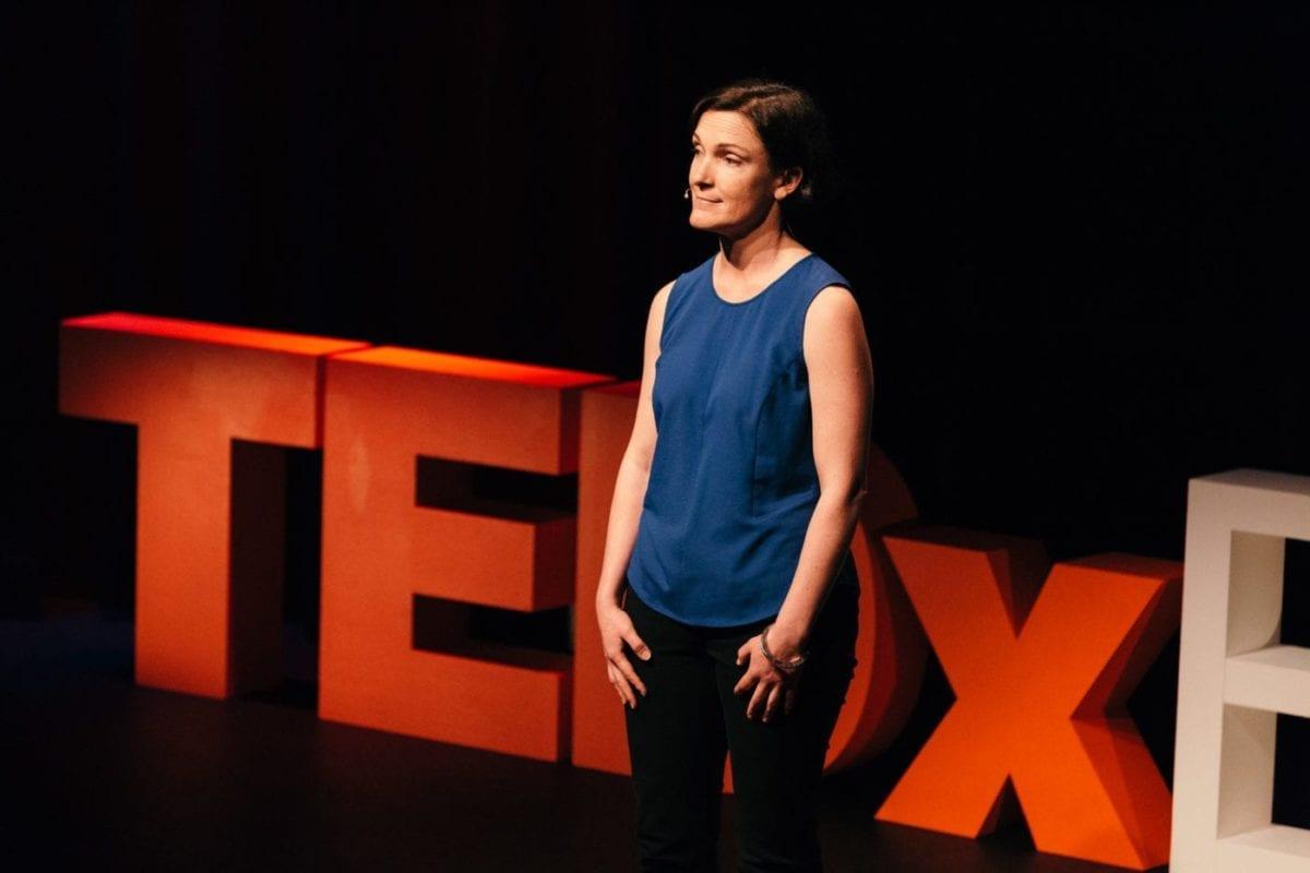 Tessa Boyd-Caine Delivering Her TEDx Talk At TEDx Brisbane